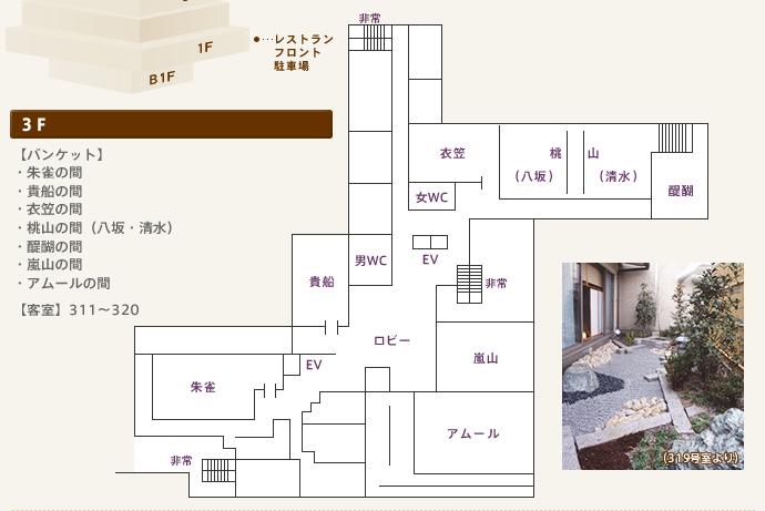 館内のご案内:3F平面図