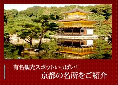 有名観光スポットいっぱい!「京都の名所をご紹介」